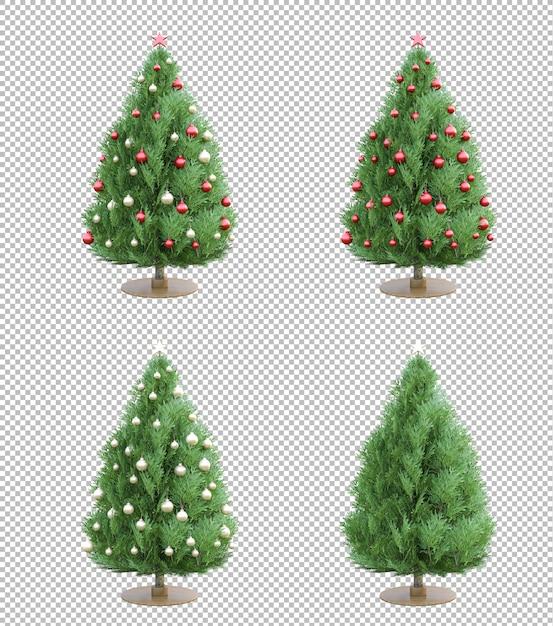 Geïsoleerde 3ds kerstboom Premium Psd