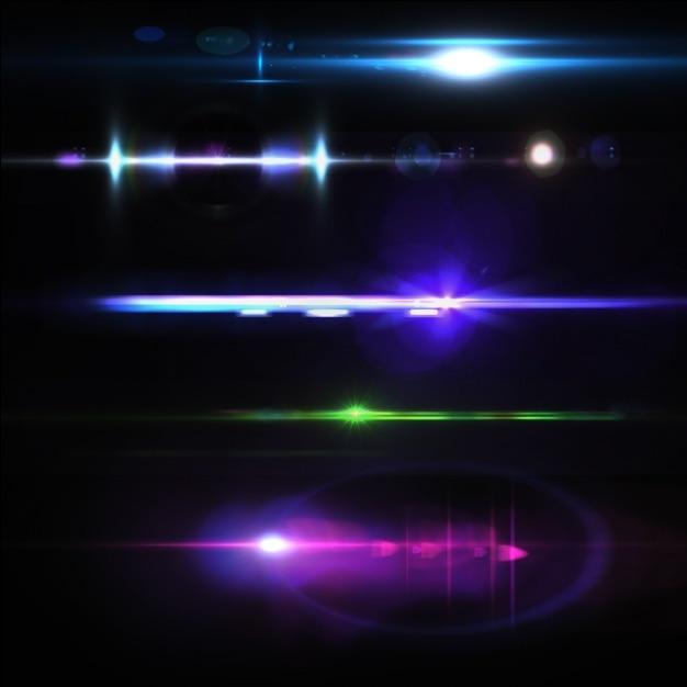 Gekleurde lichten collectie Gratis Psd