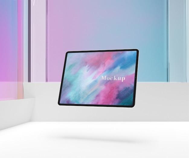 Gekleurde weergave van tabletmodel Gratis Psd