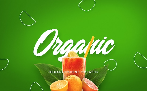 Generatore di scena estiva organica Psd Premium