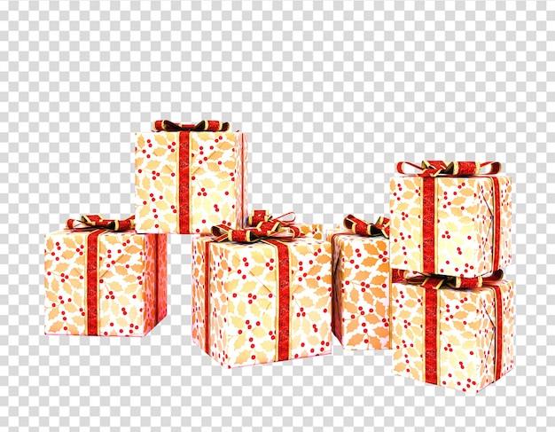 Geschenkdozen geïsoleerd Premium Psd