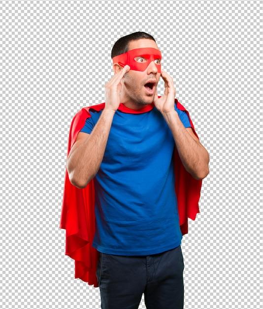 Geschokt superheld poseren Premium Psd