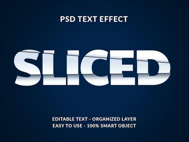 Gesneden 3d-tekststijleffect mockup met papierstijl Premium Psd