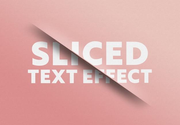 Gesneden tekst gesneden effect Premium Psd