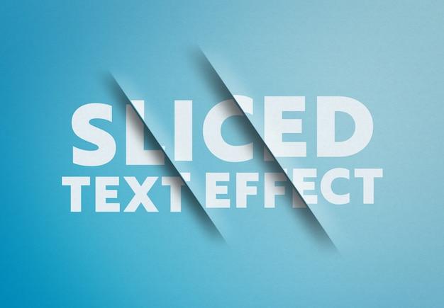 Gesneden teksteffect mockup Premium Psd