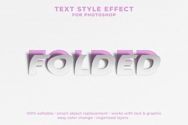 Gevouwen 3d-tekststijleffect psd-sjabloon Premium Psd