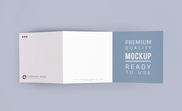 Gevouwen brochure mockup gedrukte materialen Gratis Psd