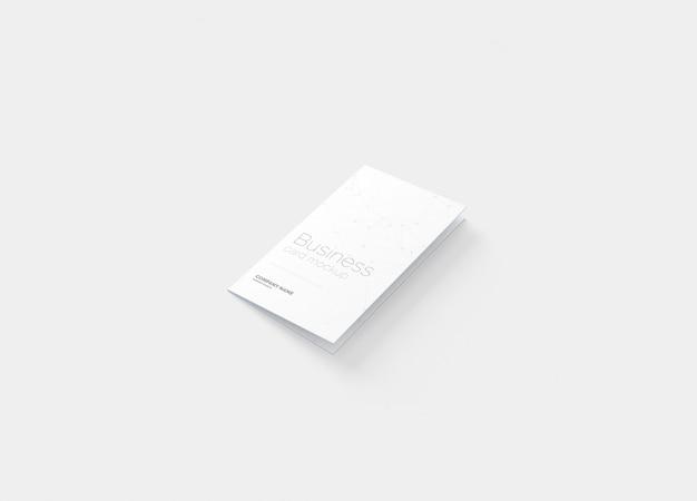 Gevouwen visitekaartjesmodel Premium Psd