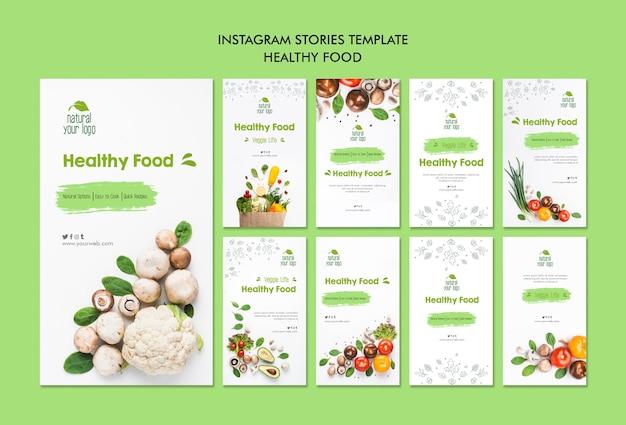 Gezond eten isntagram verhalen sjabloon Gratis Psd