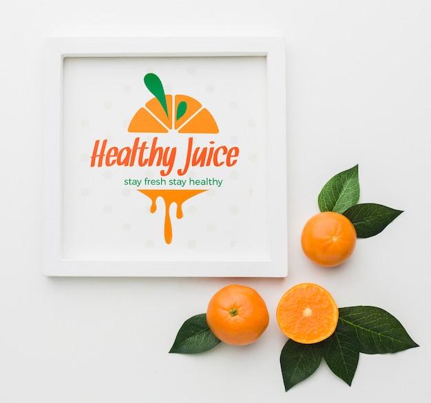 Gezond sap met biologische sinaasappels Gratis Psd