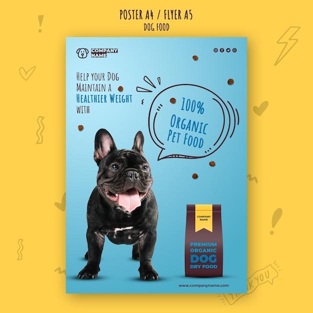 Gezonde hondenvoer folder sjabloon Gratis Psd