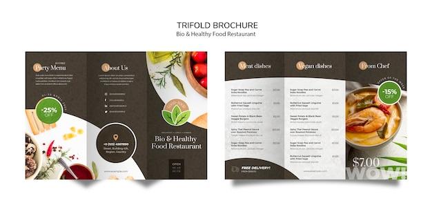 Gezonde voeding restaurant brochure Gratis Psd