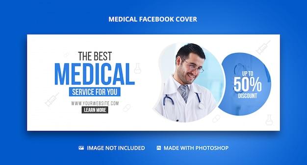 Gezondheidszorg en medische facebook omslagsjabloon voor spandoek Premium Psd