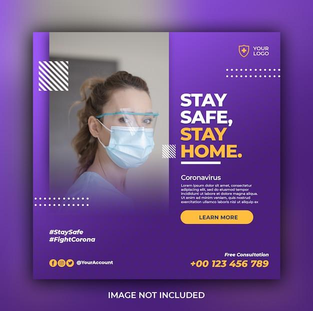 Gezondheidszorgbanner met het thema van de viruspreventie Premium Psd