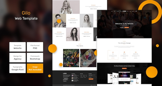 Gilo websjabloon Premium Psd