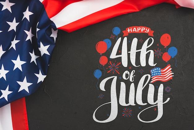 Giorno dell'indipendenza negli stati uniti d'america. 4 luglio Psd Gratuite