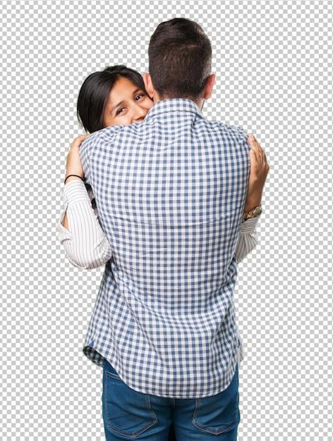 Giovane coppia innamorata Psd Premium