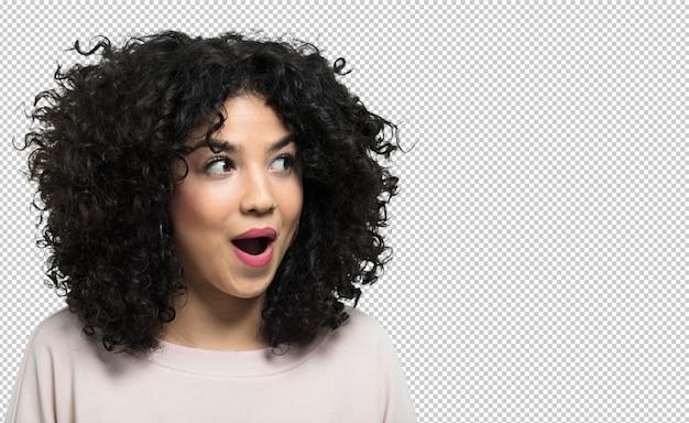 Giovane donna ridendo e felice Psd Premium