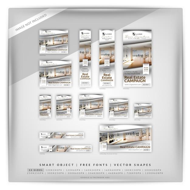 Glamour real estate google en facebook ads Premium Psd