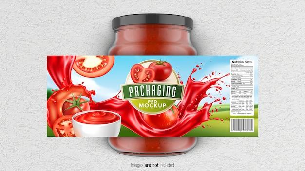 Glazen pot verpakking mockup geïsoleerd Premium Psd
