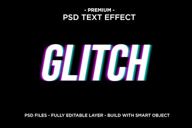 Glitch text effect template Psd Premium