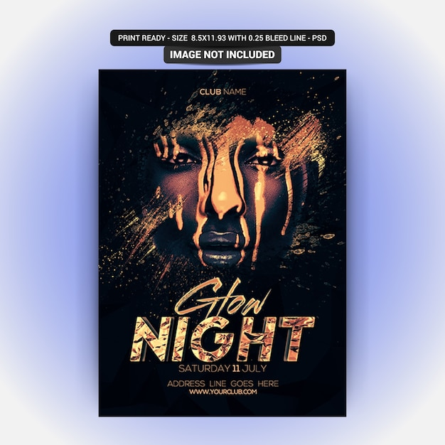 Glow night party Psd Premium