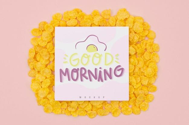 Goedemorgen bericht met granen Gratis Psd