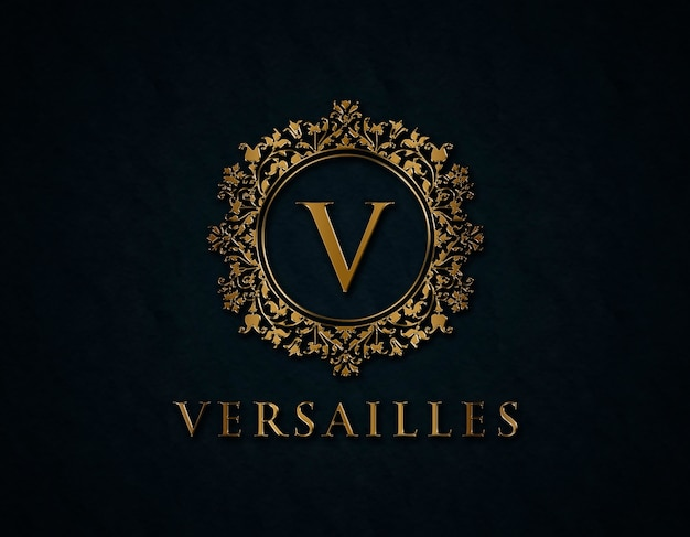 Golden logo mockup Psd Premium
