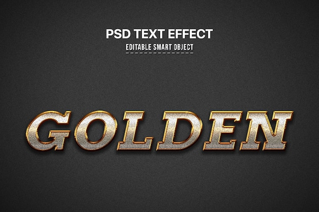 Gouden 3d tekststijleffect Gratis Psd