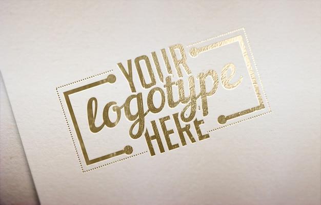 Gouden logo sjabloon witte achtergrond Premium Psd