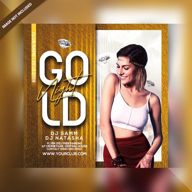 Gouden nacht partij flyer Premium Psd