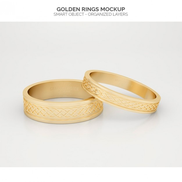 Gouden ringen mock up Gratis Psd