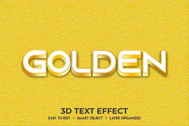 Gouden teksteffect mockup Premium Psd