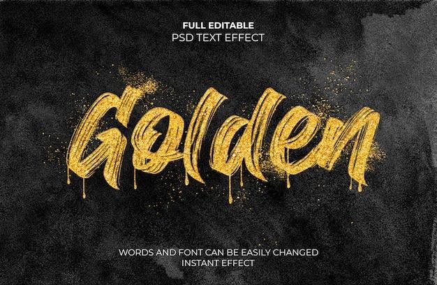 Gouden teksteffect Gratis Psd