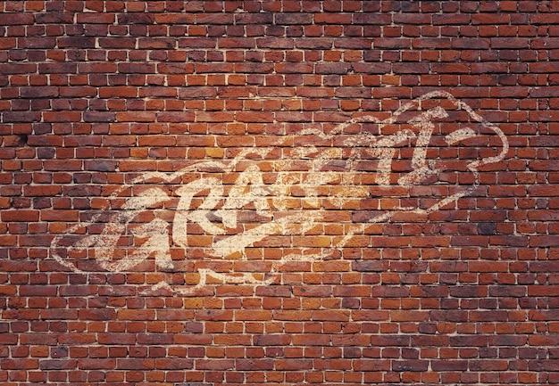 Graffiti mockup Premium Psd
