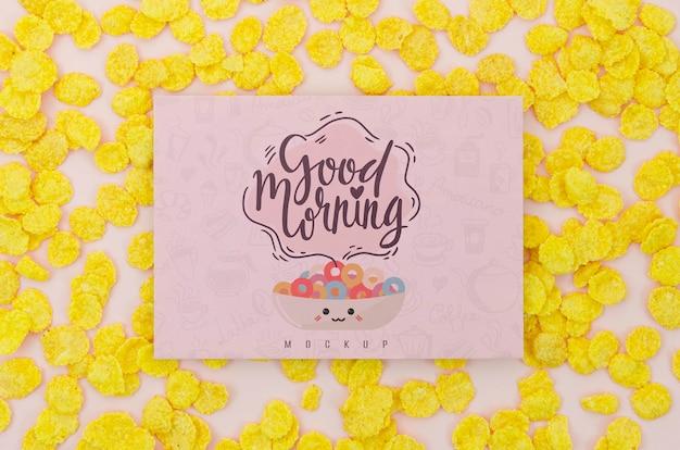 Granen met goedemorgenbericht Gratis Psd