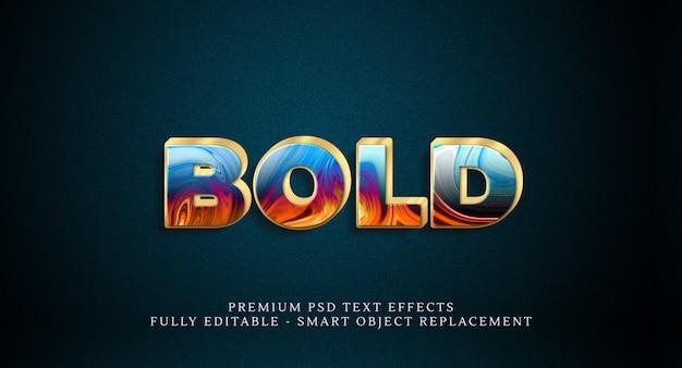 Grassetto effetto stile testo psd. effetti di testo psd Psd Premium