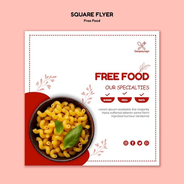 Gratis flyer-sjabloon voor eten Gratis Psd
