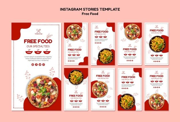 Gratis food instagram-verhalen Gratis Psd