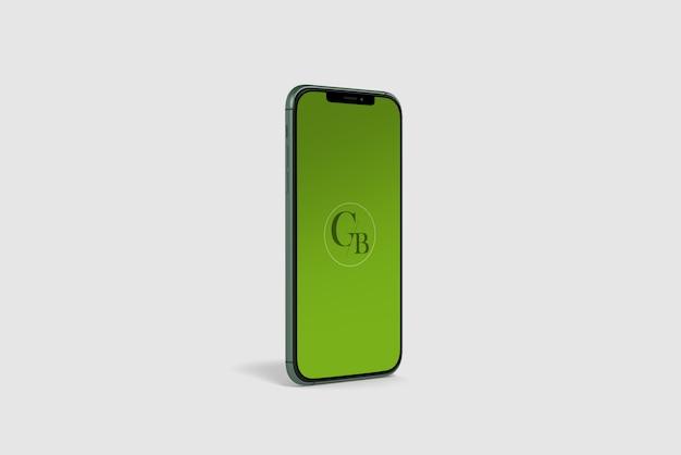 Green smart phone mockup Premium Psd