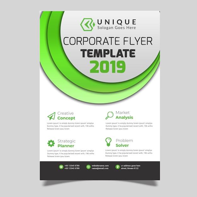 Groene bedrijfsvlieger Premium Psd