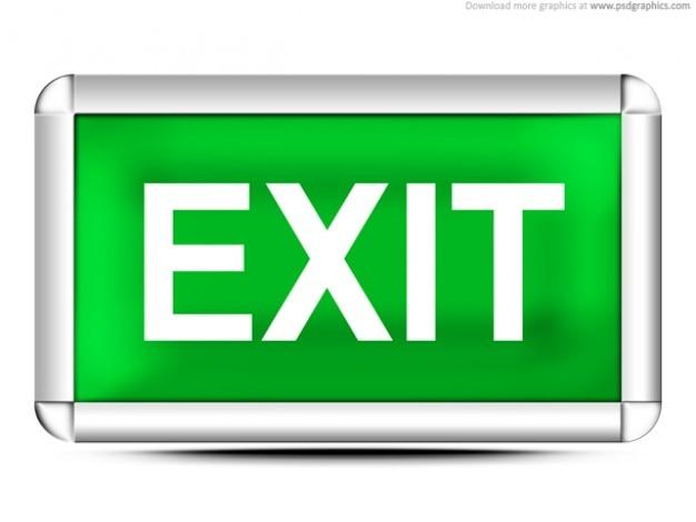 Groene exit teken (psd) Gratis Psd