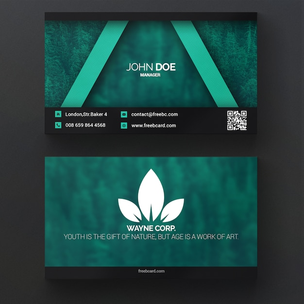 Groene natuur adreskaartje Gratis Psd