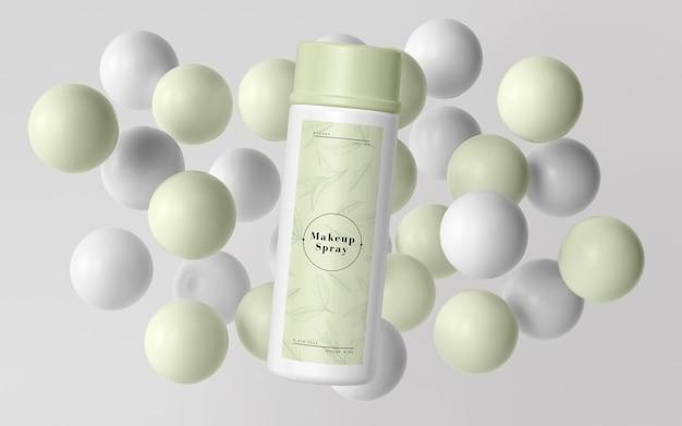 Groene verpakking van cosmetische producten Gratis Psd
