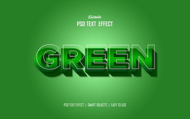 Groene vetgedrukte stijl effect Premium Psd