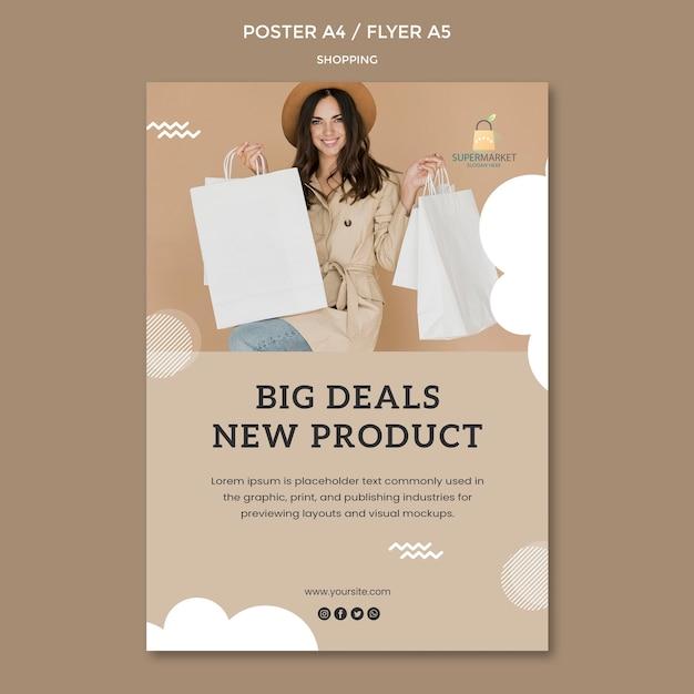 Grote deals poster sjabloon winkelen Gratis Psd