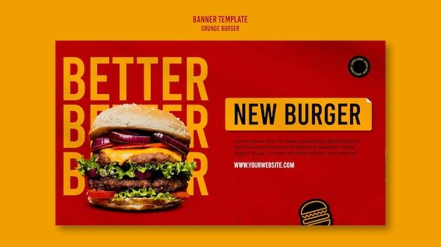 Grunge hamburger sjabloon voor spandoek Gratis Psd