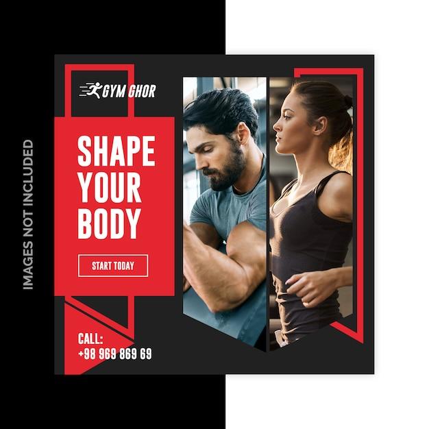Gym fitness sociale media webbanners Premium Psd