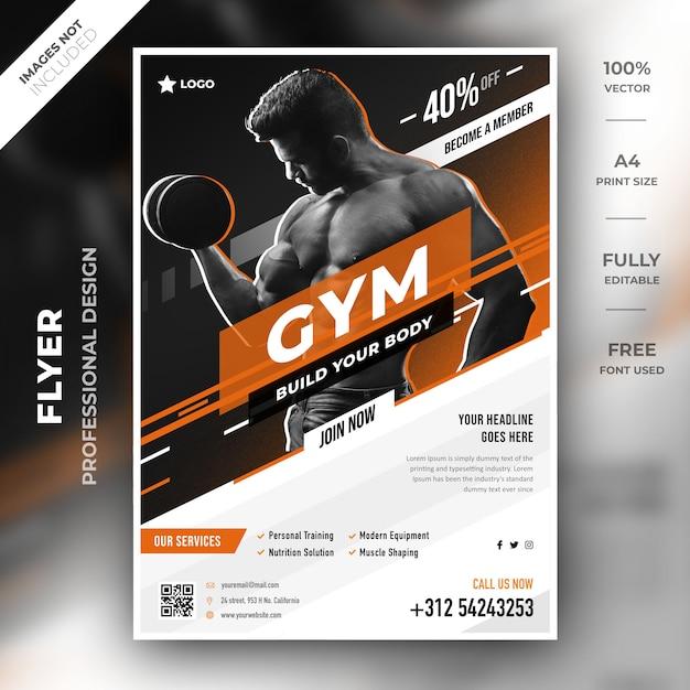 Gym folder sjabloon Premium Psd