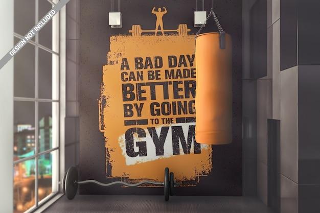 Gym muurmodel Premium Psd